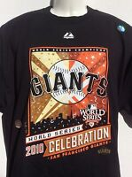 San Francisco Giants 2010 World Series Champs 2 Sided T Shirt Sz Xl W/ Roster