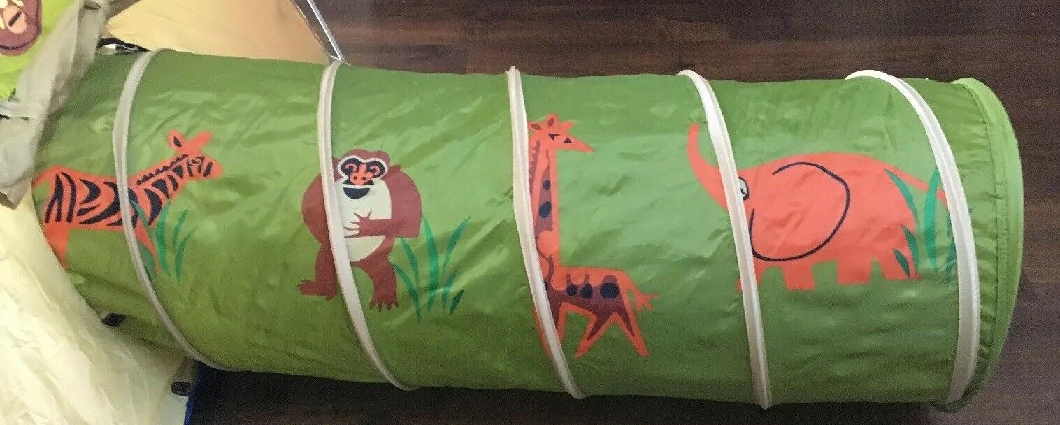 Pacific Play Play Play Safari Tent And Tunnel Combo (Used) 0d0e75