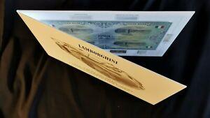 Auto Bank 5 Dollars Uncut Sheet of 4 bills LAMBORGHINI car banknote / folder