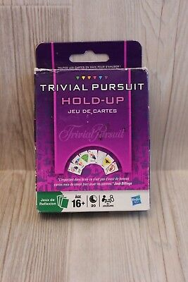 Jeu De Cartes - Trivial Pursuit Hold-up - Hasbro - Complet Aspetto Elegante