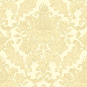 Sirpi Italian Damask Pattern Wallpaper Metallic Floral Leaf Heavy Weight Vinyl