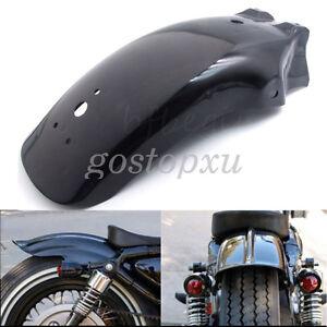 Noir-Moto-Garde-boue-arriere-Pour-Harley-Honda-Yamaha-Suzuki-Chopper-Cruiser
