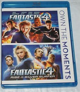BLU-RAY-FANTASTIC-4-amp-RISE-OF-THE-SILVER-SURFER-DOUBLE-2-DISC
