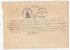 Y517-NOVARA-BOZZETTO MEDAGLIA COMMEMORATIVA 1868