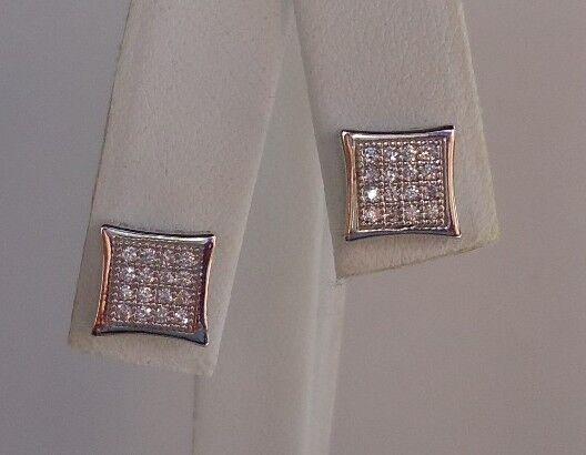 100% QualitäT 925 Sterlingsilber Stecker Ohrringe Mit / Mikro Besatz Diamanten/atemberaubende StäRkung Von Sehnen Und Knochen