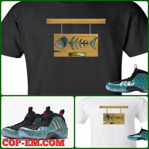 94cecb084bc69 Details about EXCLUSIVE TEE SHIRT TO MATCH THE NIKE AIR FOAMPOSITE 1 GONE  FISHING-