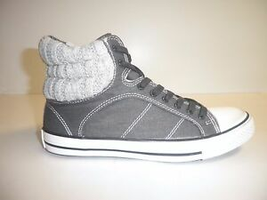 Splendid Size 8 M ESSEX Black Grey Fashion High Top Sneakers New Womens Shoes