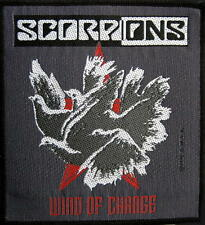 "SCORPIONS AUFNÄHER / PATCH # 7 ""WIND OF CHANGE""- 10x9 cm - VINTAGE 1990"