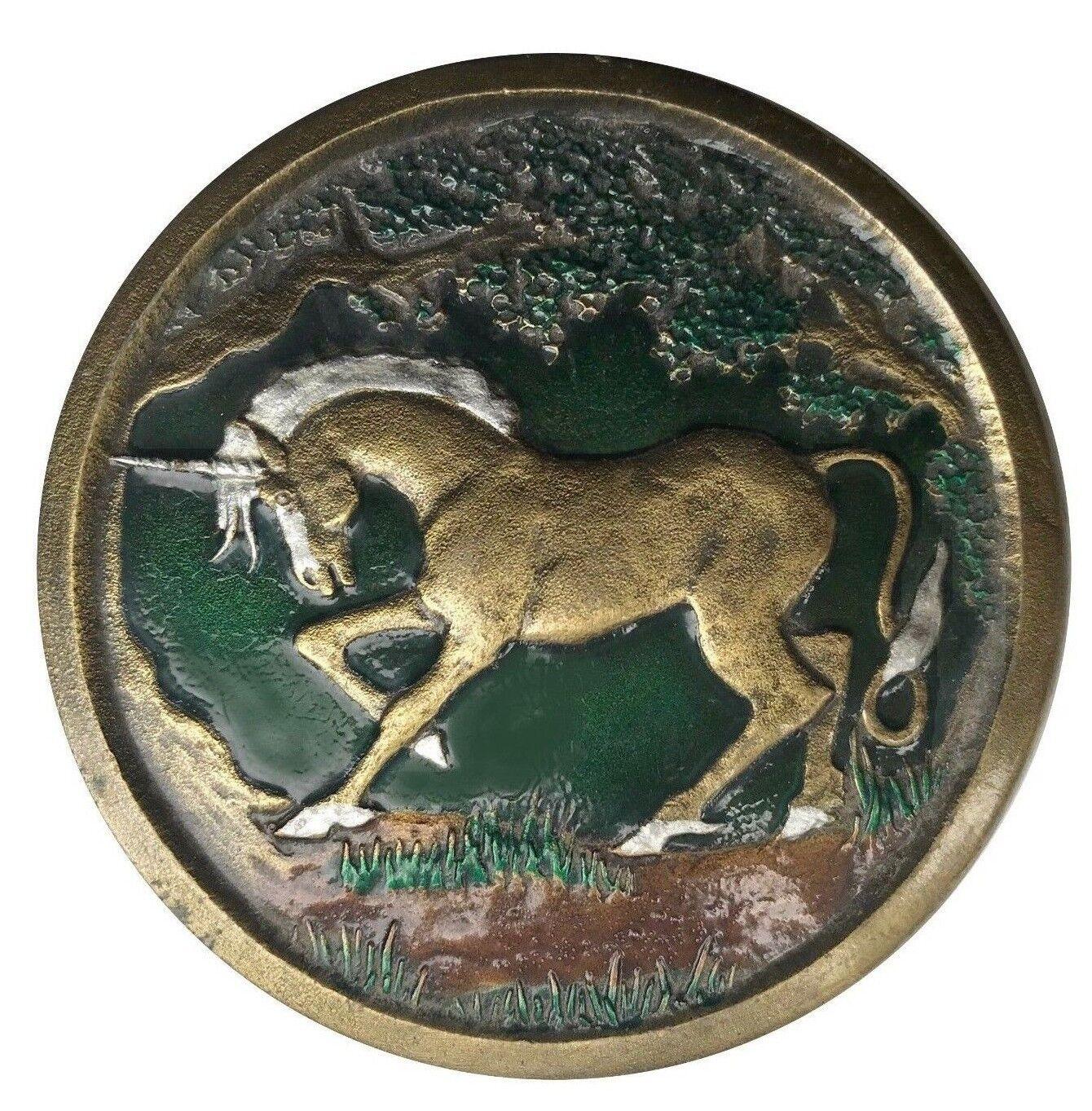 Vtg Einhorn Gürtelschnalle Fliegend Pferd Mystisch Mystisch Mystisch Mythology Magic Pegasus | Realistisch  9cec4f