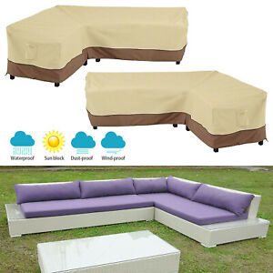 Awe Inspiring Details About Outdoor Garden Patio Furniture Cover Protector L Shape Sofa Cover Waterproof Us Theyellowbook Wood Chair Design Ideas Theyellowbookinfo