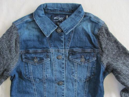 89 Sleeves Blå Strik Sølv Med Jeans S 629227407586 Nwt Trøje Grå Jakke Denim IH0HPwqY