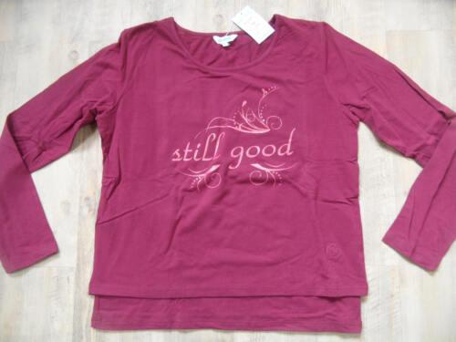 """Carriwell still shirt Jenna /""""Still Good/"""" Bordeaux taglia L nuovo sto318"""