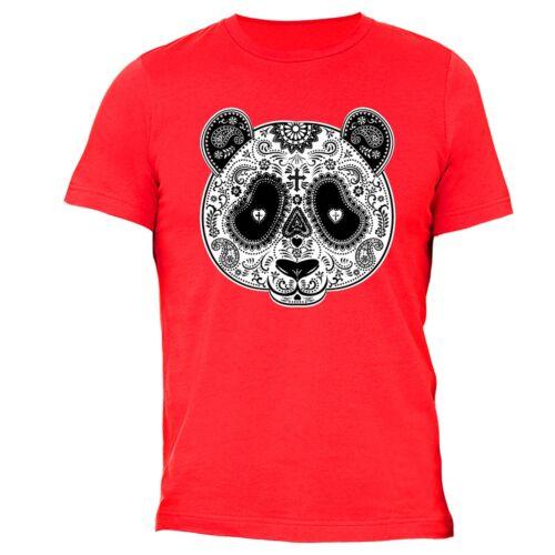 PANDA Sugar Skull SHIRT Day of the Dead Dia Los muertos Mexico T-SHIRT tee Red