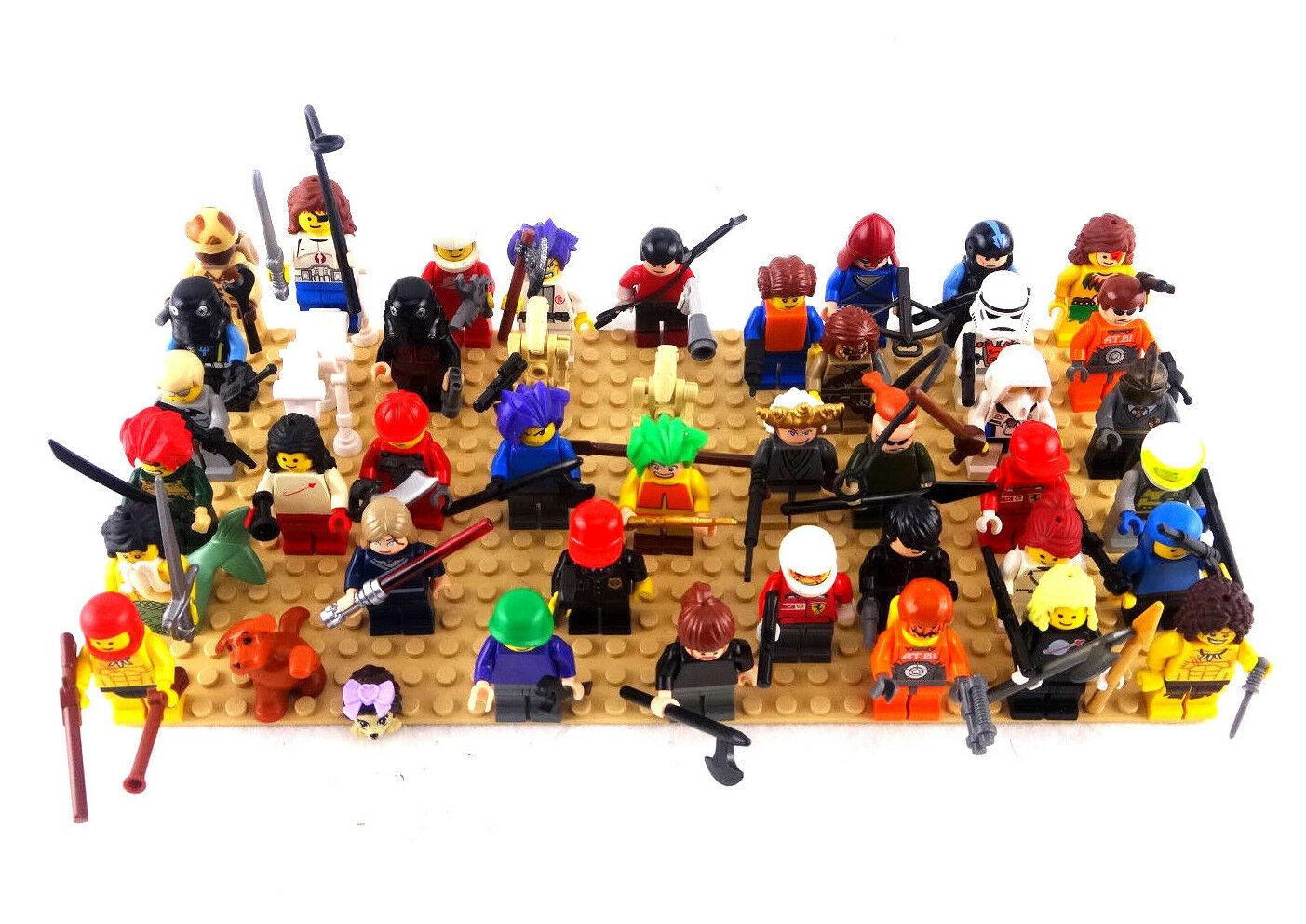 LEGO Minifig Minifigure/Animal Lot Qty. 40+ Sanitized Weaponized Free Shipping