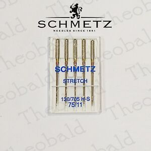 SCHMETZ DOMESTIC STRETCH SEWING MACHINE NEEDLES SIZE 75/11 FIT BROTHER,JANOME +