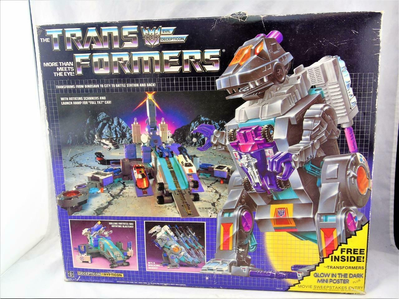 Transformers Original G1 1986 Trypticon Complete w  Box