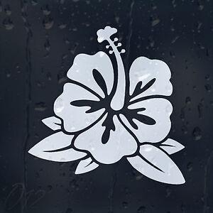 Flower Hibiscus Car Decal Vinyl Sticker For Window Bumper Panel