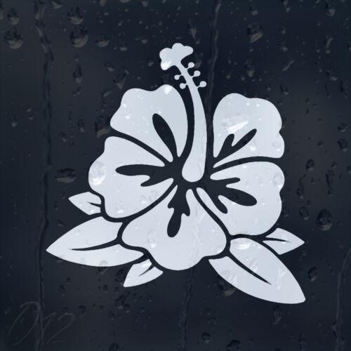 Flower Hibiscus Car Decal Vinyl Sticker For Window Bumper Panel Laptop