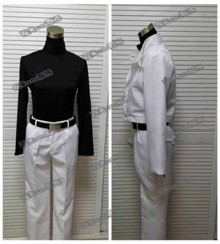Blood Blockade Battlefront Zapp Renfro Cosplay Costume White Uniform:fMM