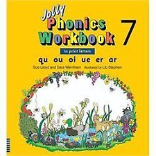 Jolly Phonics Workbook 7 (US Print Letters) : Qu, Ou, Oi, Ue, Er, Ar by Sue...