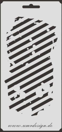 Scrapbooking Schablone S-002  Lines Vintage ~ Stencil ~ UMR-Design