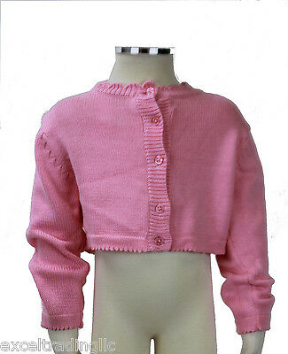 JACADI Girl/'s Balade White LS Button Down Cotton Cardigan Sz 2 Years NWT $58