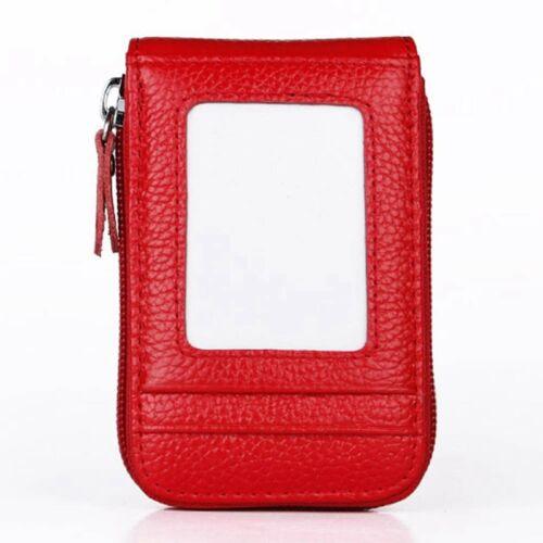 New Men/'s Wallet Leather Credit Card Holder RFID Blocking Zipper Thin Pocket