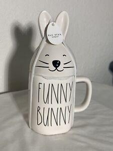 Rae Dunn Easter By Magenta FUNNY BUNNY White Mug With Bunny Head Mug Topper