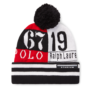 3f50b2f2 Image is loading Polo-Ralph-Lauren-Stadium-RL67-Beanie-Hat-Wool-