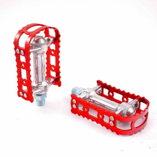 """MKS BM-7  Alloy Anodized 9//16/"""" Pedals for MTB BMX Old School Flat Bike Pedal"""