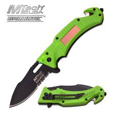 Coltello MTech Solar LED Green Soccorso MTA887GN Knife Messer Couteau Navaja