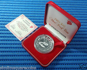 1989-Singapore-Mint-039-s-Lunar-Series-10-Year-of-the-Snake-1-oz-Silver-Proof-Coin