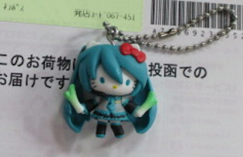 Hatsune Miku × Hello Kitty Key Chain VOCALOID Bocaro from japan Free Shipping