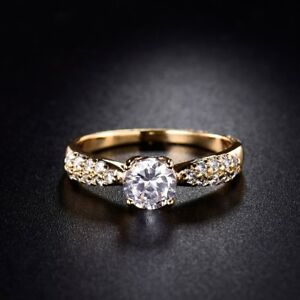 Fashion-Jewellery-Sapphrie-Crystal-18K-Gold-Filled-Chic-Cheap-Rings-For-Women