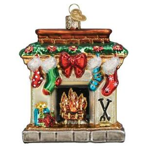 Old-World-Christmas-HOLIDAY-HEARTH-32434-N-Glass-Ornament-w-OWC-Box