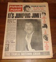 MELODY MAKER 4 FEB 1967 BEATLES JIMI HENDRIX STONES MONKEES MOVE WHO MAMA CASS