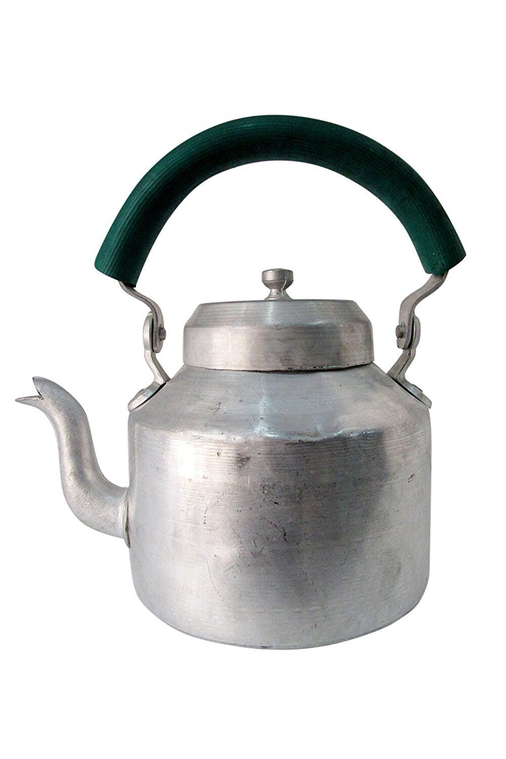 Traditional Indian Tea Kettle 2 Ltr Aluminum Chai Coffee Ketali Serving Teapot