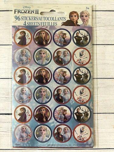 4 Sheets Party Favors Teacher Supply Anna Elsa 96 Disney Frozen II Stickers