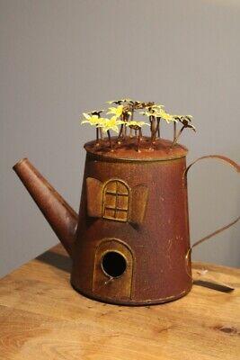 Garten Deko Vogelhaus Teekanne zum Hängen Metall