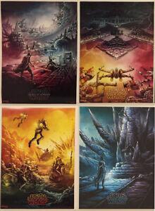 Star Wars Episode Ix The Rise Of Skywalker Imax Poster Full Set Of 4 Dan Mumford Ebay