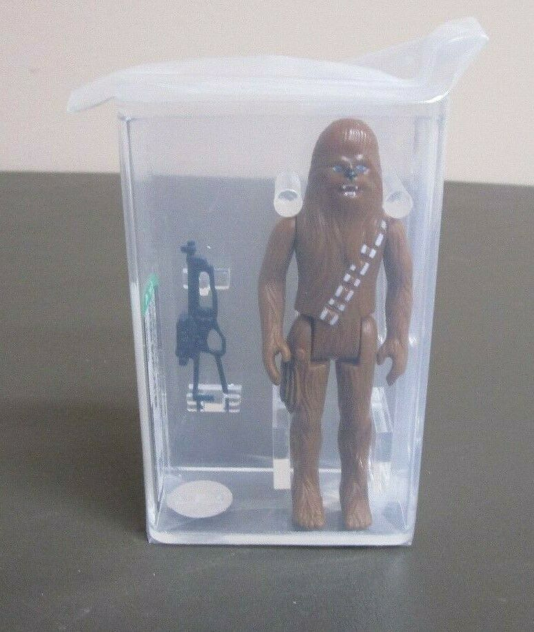 Chewbacca 1977 STAR WARS Graded AFA 85 NM+ HK Coo Grün Bowcaster JJ New Case