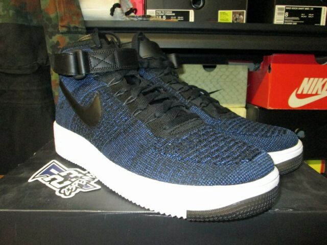 Nike Af1 Ultra Flyknit Mid Air Force 1 Navy Black Mens Casual Shoes 817420 400