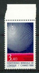 Francia-1986-SG-2743-Nuovo-100-Conferenza-mondiale-dell-039-energia-Cannes