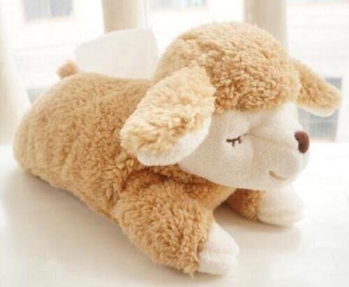 2019 NEW Plush Smile Sheep Bedroom Car Tissue Kleenex Box Cover Holder Brown