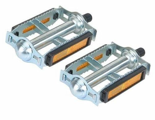 "616 Steel Bicycle Pedals 1//2/"" Chrome Old School BMX MTB Bike Pedal 202690 NEW"