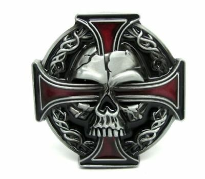 BLACK NORSE CROSS BELT BUCKLE METAL MULTIPLE NORSE CROSSES