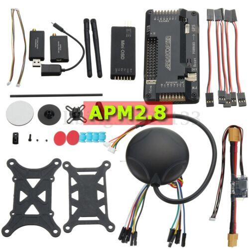 APM 2.8 ArduPilot Flight Controller 6M GPS 915Mhz Telemetry OSD Power Module Kit