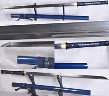 HANDMADE JAPANENSE NINJATO SWORD CHOKUTO FOLDED STEEL FULL TANG BLADE VERY SHARP