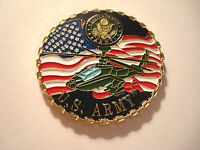 U.s. Army Apache Helicopter Challenge Coin