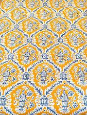 Item 1 Vintage Wallpaper Chinoiserie Oriental Orange Blue Motif